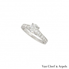 Van Cleef & Arpels Platinum Diamond Romance Ring 0.40ct E+/VVS2+
